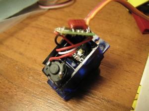 Вскрытая сервомашинка HTX900
